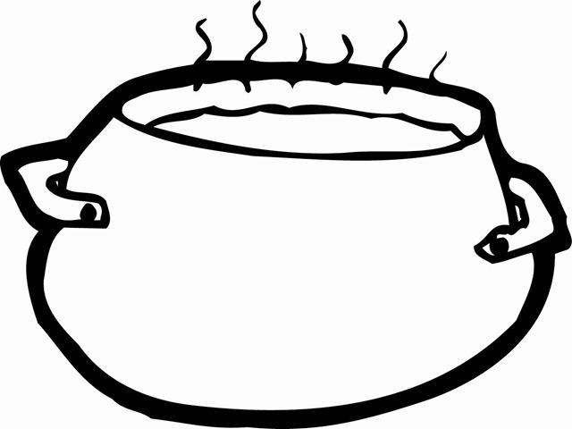 Pin Cooking Pot Colouring Pages On Pinterest Pots Color Drawing